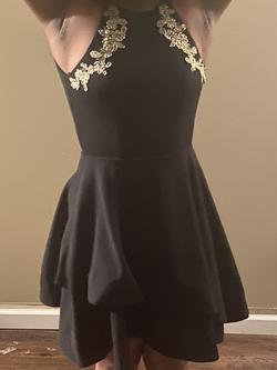 B. Darlin Black Size 2 Halter A-line Dress on Queenly