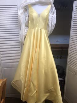 Sherri Hill Yellow Size 10 Prom Ball gown on Queenly