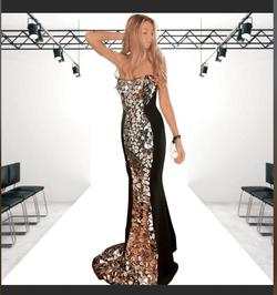 Sherri Hill Black Size 0 Mermaid Dress on Queenly