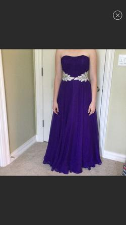 Sherri Hill Purple Size 2 Belt Fitted Straight Dress on Queenly