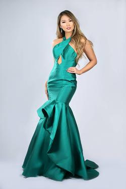 Angela & Alison Green Size 2 Pageant Mermaid Dress on Queenly