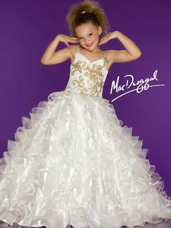 Mac Duggal White Size 10 Light Pink Embroidery Ball gown on Queenly