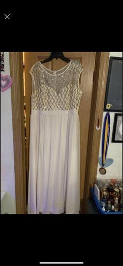 Queenly size 20  Silver Straight evening gown/formal dress