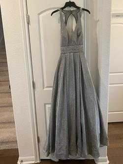 Queenly size 8 Camille La Vie Silver Ball gown evening gown/formal dress