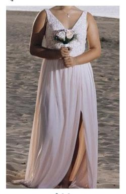 davids bridal Pink Size 10 Bridesmaid Straight Dress on Queenly