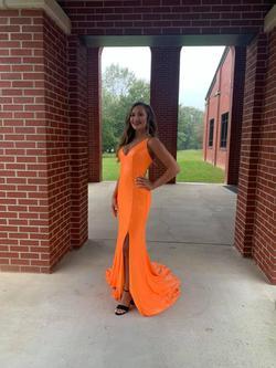 Alyce Paris Orange Size 0 Alyce Side slit Dress on Queenly