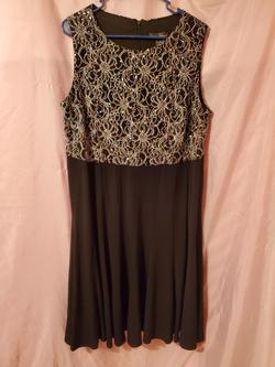 Jessica Howard Black Size 16 Lace Plus Size Cocktail Sequin Straight Dress on Queenly