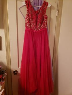 Sherri Hill Red Size 8 Jewelled Backless Ball gown on Queenly