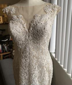Queenly size 12  Nude Straight evening gown/formal dress