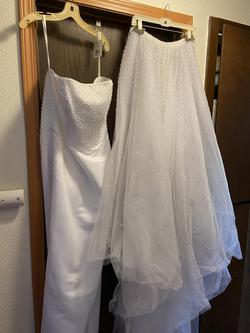 Davids Bridal White Size 22 Wedding Plus Size Straight Dress on Queenly