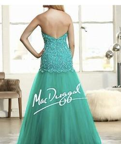 Mac Duggal Green Size 0 Strapless Sequin Mermaid Dress on Queenly
