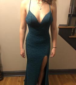 Angela & Alison Green Size 8 Backless Side slit Dress on Queenly