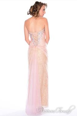 Style P21034 Precious Formals Light Pink Size 4 Sequin Mermaid Dress on Queenly