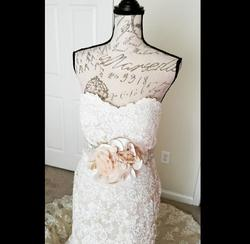 Martina Liana White Size 10 Train Strapless Mermaid Dress on Queenly