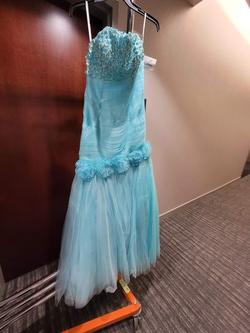 Style 3166 Karishma Creation Blue Size 4 Tall Height Mermaid Dress on Queenly