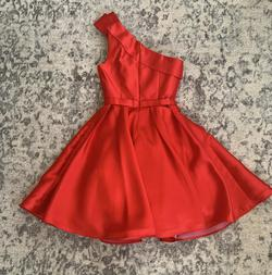Jovani Red Size 6 Cocktail Dress on Queenly