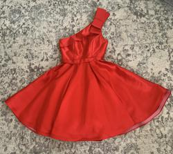 Queenly size 6 Jovani Red Cocktail evening gown/formal dress