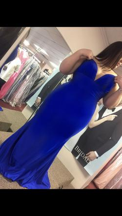 Queenly size 14 Jovani Blue Mermaid evening gown/formal dress