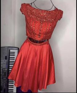 Sherri Hill Red Size 4 Cap Sleeve Flare Cocktail Dress on Queenly