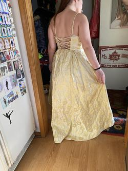 Yellow Size 14 Train Dress on Queenly