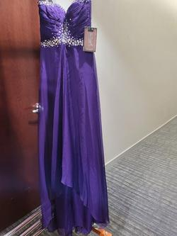 Style 65126L Mac Duggal Purple Size 4 Prom Strapless Pageant A-line Dress on Queenly