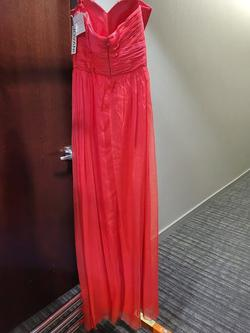 Style 40013 Jovani Red Size 4 Tall Height Straight Dress on Queenly