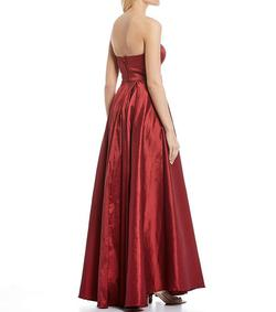 B. Darlin Red Size 12 Side Slit Plus Size Ball gown on Queenly