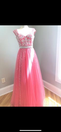Sherri Hill Pink Size 2 Beaded Top Sweetheart Ball gown on Queenly