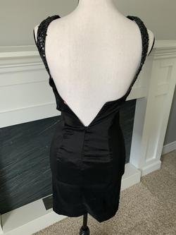 Firt by Maggie Sottero Black Size 2 Homecoming Backless Cocktail Dress on Queenly