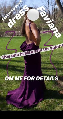 Faviana Purple Size 4 Backless Straight Dress on Queenly