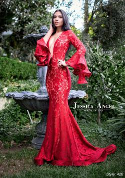 Queenly size 4 Jessica Angel Red Mermaid evening gown/formal dress