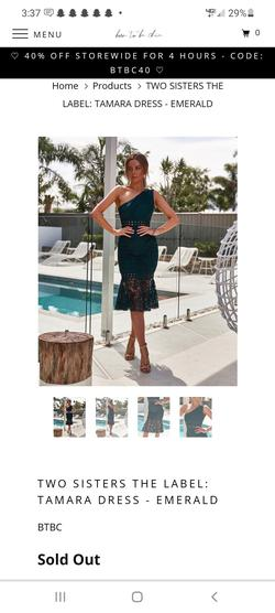 Style Tamara TS361 Two Sisters the Label Green Size 6 Lace Cocktail Dress on Queenly