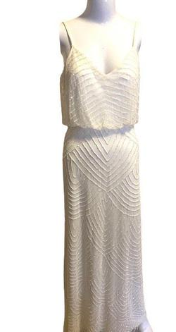 Adrianna Papell White Size 0 A-line Dress on Queenly