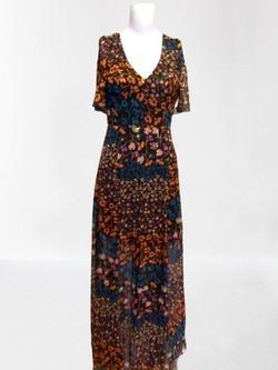 Bcbg Multicolor Size 0 Backless Straight Dress on Queenly
