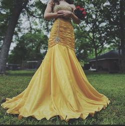 Jovani Yellow Size 0 Prom Pageant Mermaid Dress on Queenly