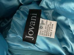 Jovani Blue Size 0 Flare A-line Dress on Queenly