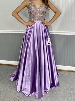 Queenly size 0 Tiffany Designs Purple Straight evening gown/formal dress
