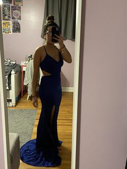 La Femme Blue Size 6 Tall Height Side slit Dress on Queenly