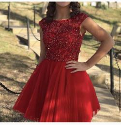 Sherri Hill Red Size 0 Homecoming Flare Cocktail Dress on Queenly