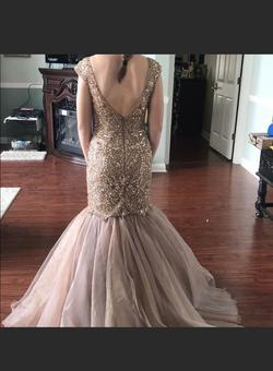 Sherri Hill Nude Size 0 Pageant Jewelled Mermaid Dress on Queenly