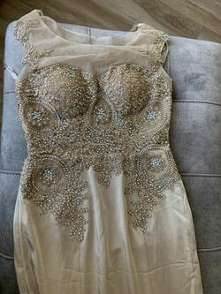 Queenly size 8 Colors Gold Mermaid evening gown/formal dress