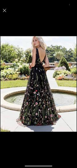 Clarisse Multicolor Size 16 Plus Size Floral A-line Dress on Queenly