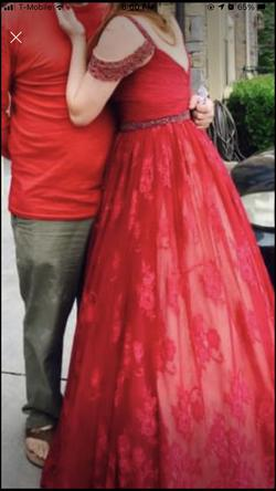 Sherri Hill Red Size 8 Prom Pink Ball gown on Queenly
