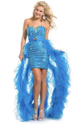 Party Time Formal Blue Size 10 Turquoise Straight Dress on Queenly