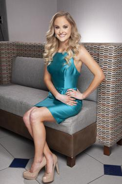 Sherri Hill Blue Size 4 Turquoise Interview Homecoming Cocktail Dress on Queenly