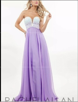 Queenly size 8  Purple A-line evening gown/formal dress