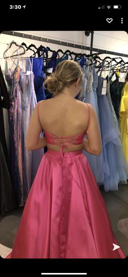 Jovani Pink Size 0 Corset Ball gown on Queenly
