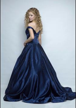 Sherri Hill Blue Size 0 Short Height Train Dress on Queenly