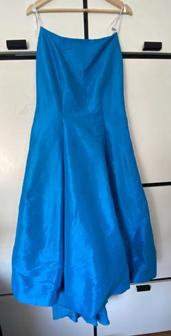 Style 16098 Tiffany Designs Blue Size 6 Prom Mermaid Dress on Queenly