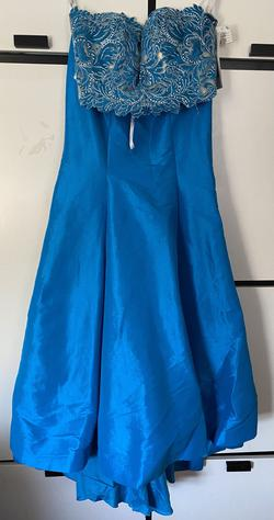 Queenly size 6 Tiffany Designs Blue Mermaid evening gown/formal dress